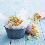 Coconut and caramel popcorn