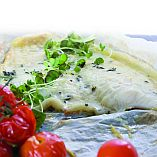 Flounder with Parmesan Cheese and Cherry Tomatoes