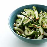 Cucumber in chilli marinade