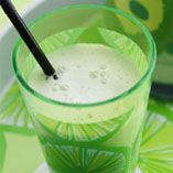 Green apple milkshake