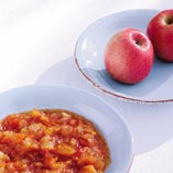 Apple chutney with curry