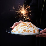 Baked Alaska with Pistachio and Passion Fruit Ice Cream