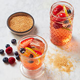 Bubbly sangria with shrub