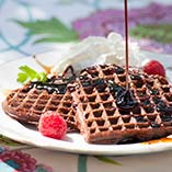 Wonderful Chocolate Waffles