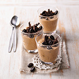 Coffee and walnut mousse
