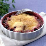 Gratinated berries