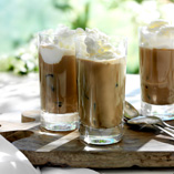 Iced coffee with ice cream
