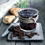 Pickled cherries with chocolate