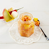 Pear and mango chutney