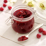Raspberry and coconut jam