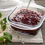 Raw cranberry compote