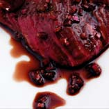 Piquant red wine marinade