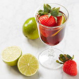 Refreshing strawberry shrub