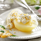 Xante pears with nut cream