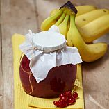 Banana and redcurrant jam