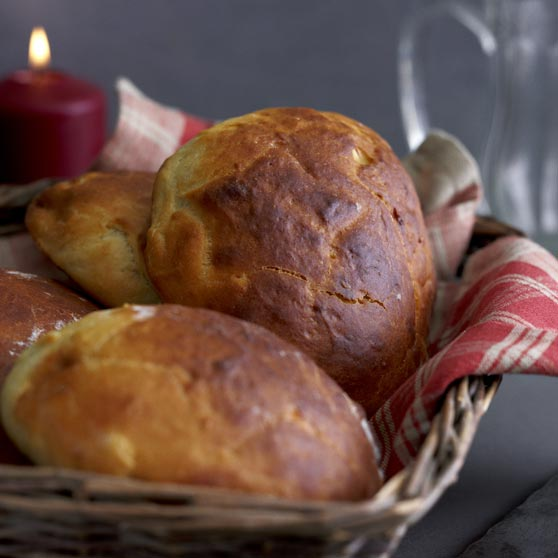 Christmas bread with orange