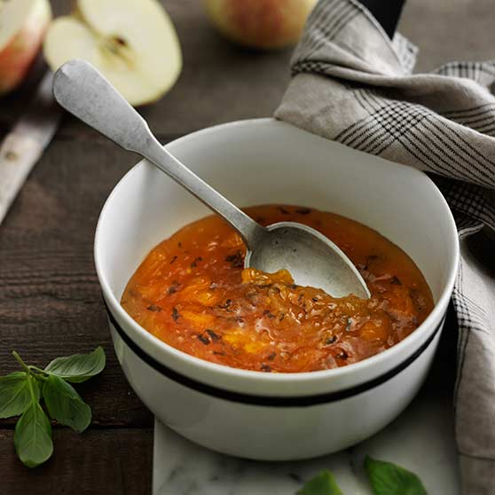 Apple and orange marmalade