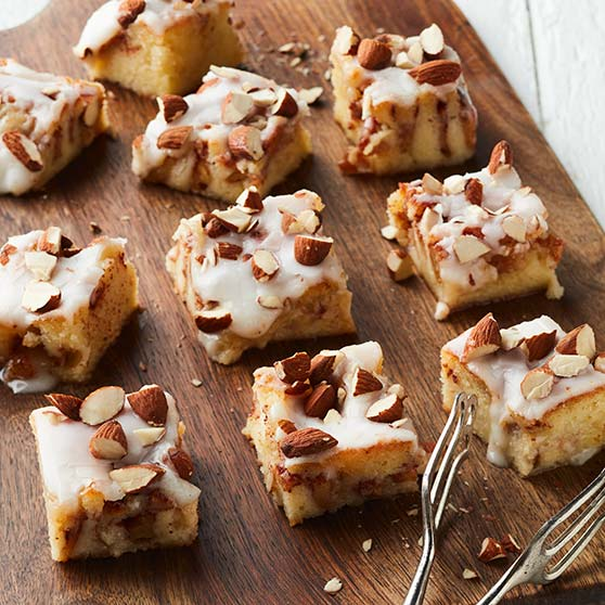 Apple Squares with Almond Paste