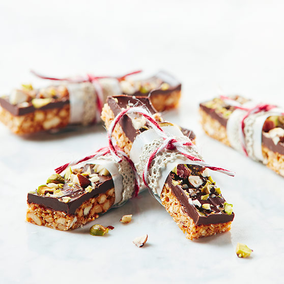Chocolate coated bars