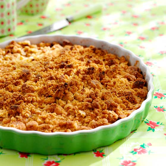 Scandinavian fruit crumble