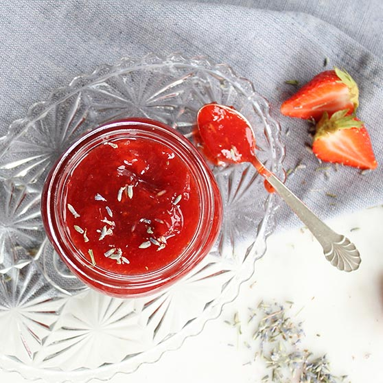 Strawberry jam with lavender
