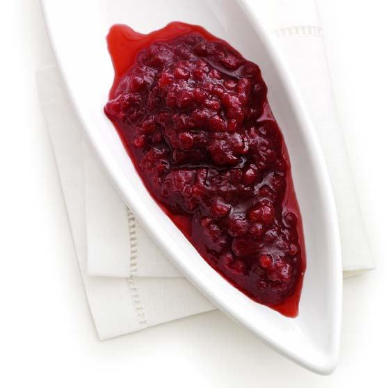 Cognac-pickled cranberries