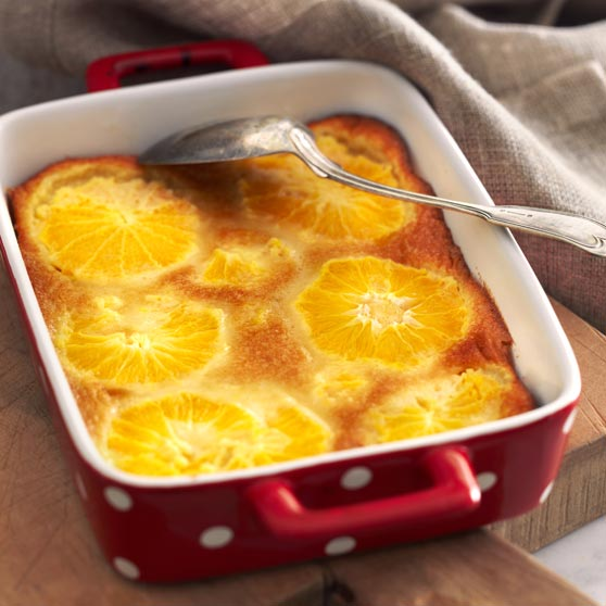 Orange clafoutis