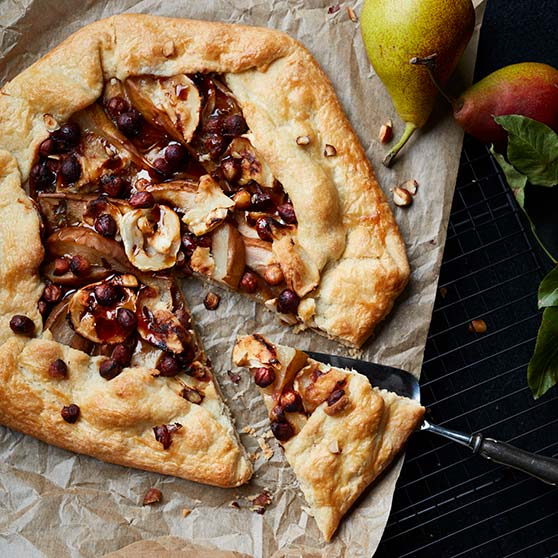 Pear Galette with Goat's Cheese