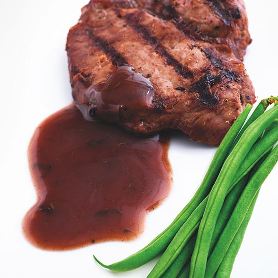 Red wine sauce with game taste