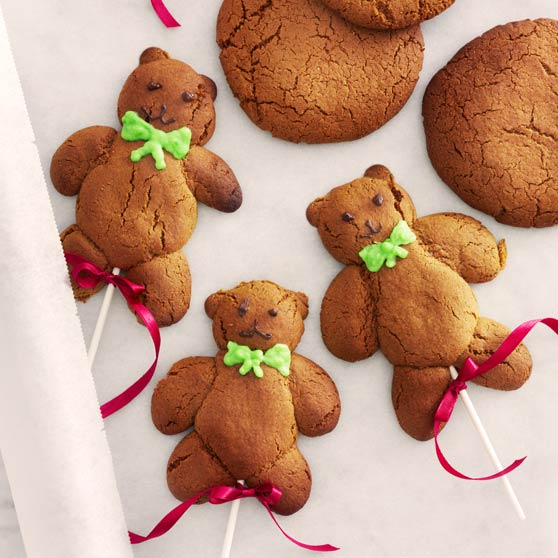 Teddybear gingerbread biscuits